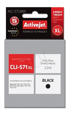 Изображение Activejet ink for Canon CLI-571Bk XL