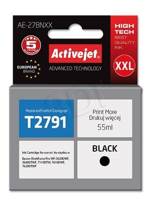 Изображение Ink cartridge Activejet AE-27BNXX (replacement Epson 27XXL T2791; Supreme; 55 ml; black)