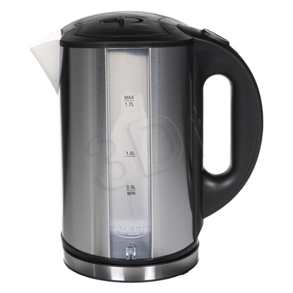 Attēls no Adler AD 1216 electric kettle 1.7 L Black,Silver 2000 W