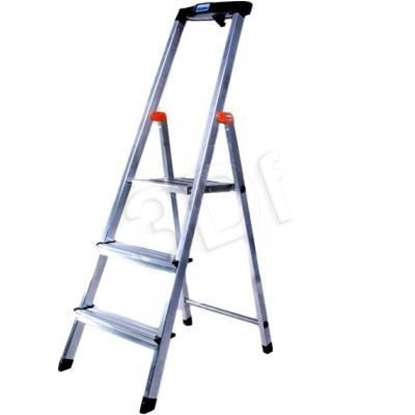 Attēls no Krause Safety Folding ladder silver