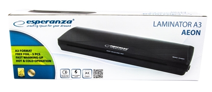 Изображение Esperanza EFL003 laminator Cold/hot laminator 250 mm/min Black