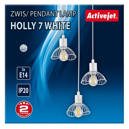 Attēls no Lamp hanging Activejet AJE-HOLLY 7 White (E14 x 3)