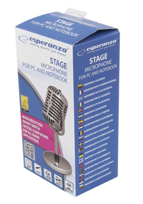Attēls no Esperanza EH181 microphone Stage/performance microphone Silver