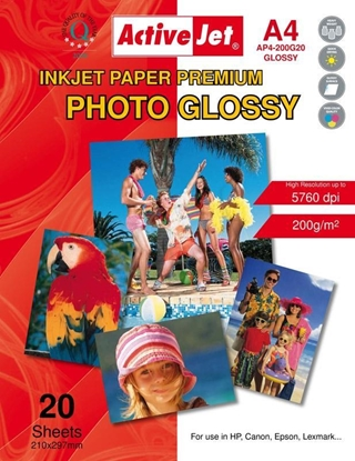 Attēls no Activejet AP4-200G20 photo paper for ink printers