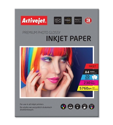 Attēls no Activejet AP4-230G20 photo paper for ink printers