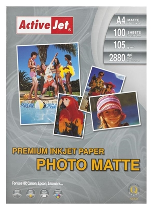 Изображение Activejet AP4-105M100 matt photo paper for ink printers