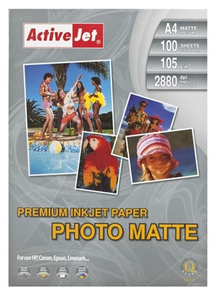 Picture of Activejet AP4-125M100 matt photo paper for ink printers