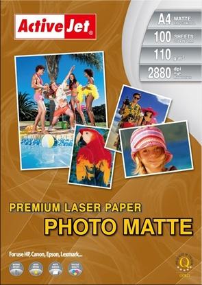 Attēls no Activejet AP4-110M100L matt photo paper for laser printers