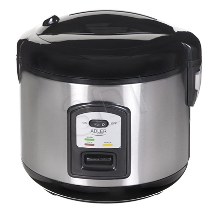 Изображение Adler AD 6406 rice cooker Black,Stainless steel 1000 W