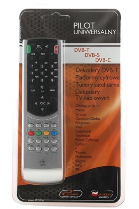 Picture of Elmak Uniwersal remote control for DVB-T/DVB-S/DVB-C – ZIP 308