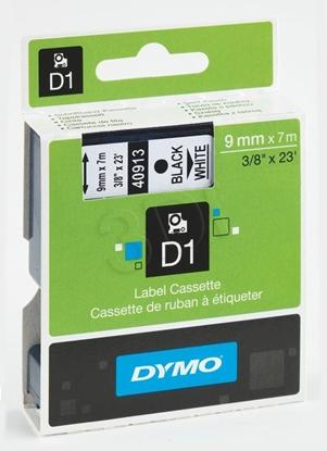 Attēls no Tape colour DYMO D1 9mmx7m czarny/biały S0720680 (9 mm )
