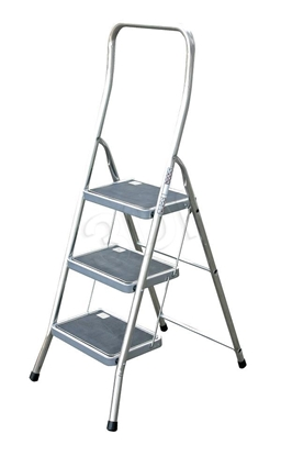 Attēls no Step ladder 3 step aluminium Krause Toppy 130877