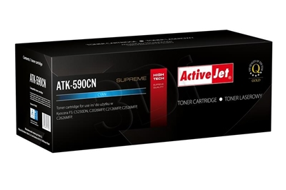 Attēls no Toner Activejet ATK-590CN (replacement Kyocera TK-590C; Supreme; 5000 pages; blue)