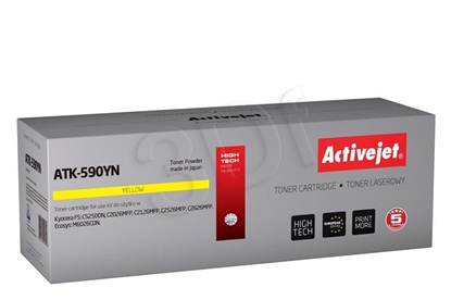 Attēls no Toner Activejet ATK-590YN (replacement Kyocera TK-590Y; Supreme; 5000 pages; yellow)