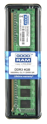 Picture of RAM memory GoodRam PC1600 GR1600D364L11S/4G (DDR3 DIMM; 1 x 4 GB; 1600 MHz; 11)
