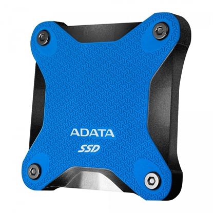 Attēls no ADATA External SSD SD600Q 240 GB, USB 3.1, Blue