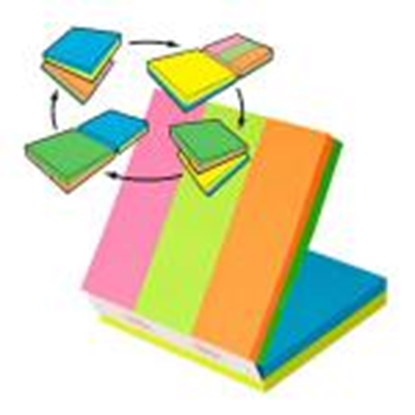 Attēls no *Līmlapiņu kubs 3M Post-it MULTI 76x76mm/150l.+ 25x76/150lap