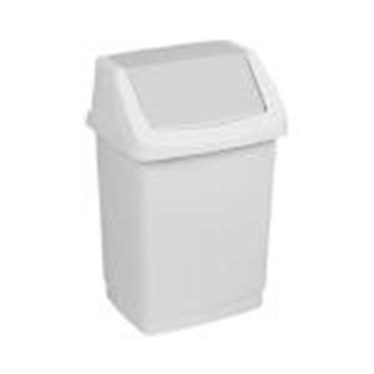 Изображение Atkritumu tvertne 15L Click-it,  CURVER,  pelēkā krāsā
