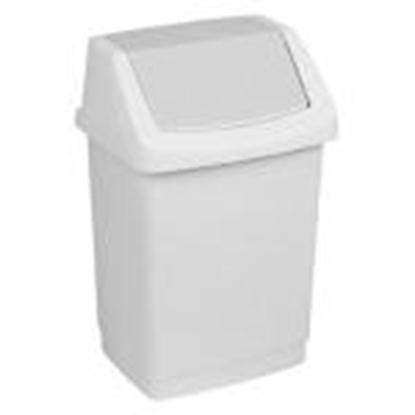 Picture of Atkritumu tvertne 25L Click-it,  CURVER,  pelēkā krāsā