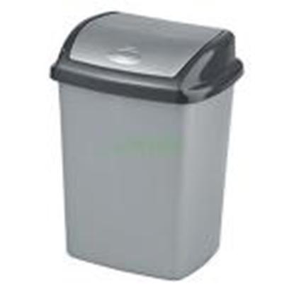 Изображение Atkritumu tvertne 25L,  Dominik,  sudraba krāsā
