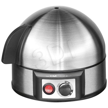 Picture of Clatronic EK 3321 egg cooker 7 egg(s) 400 W Black, Stainless steel