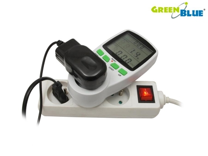 Attēls no Greenblue GB202 wattmeter White 0 - 9999 W Built-in display LCD