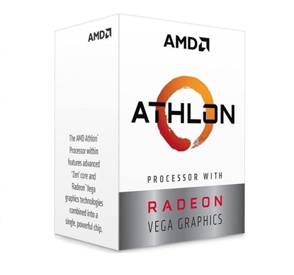 Picture of AMD   CPU Desktop 2C/4T Athlon 220GE (3.4GHz,5MB,35W,AM4) box, with Radeon Vega