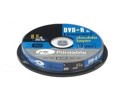 Picture of 1x10 Intenso DVD+R 8,5GB 8x Speed, Double Layer printable