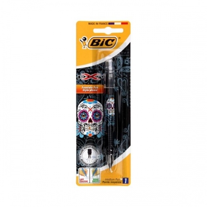 Attēls no BIC Fountain Pen X Pen Decor Girls Skull Blister 1