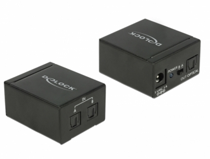 Picture of Delock TOSLINK Switch 2 x TOSLINK in to 1 x TOSLINK out