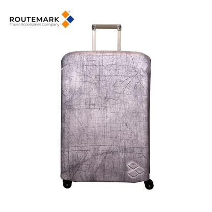 """Изображение Routemark SP240 Mazgājams Premium kvalitātes Aizsargapvalks bagāžas L/XL koferim ar Individuālu dizainu """"Silverstone"""" Pelēks"""