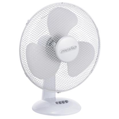 Attēls no Mesko MS 7310 Desk Fan, Number of speeds 3, 45 W, Oscillation, Diameter 40 cm, White