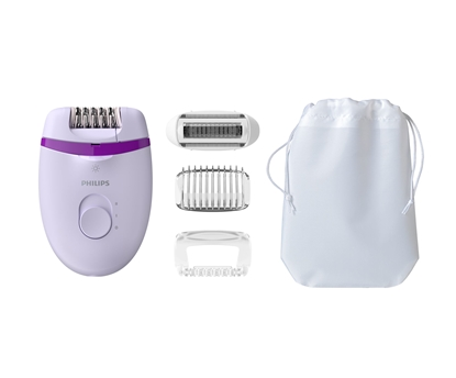 Attēls no Philips Satinelle Essential Compact wired epilator BRE275/00, optical light, 4 accessories