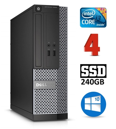 Attēls no DELL 3020 SFF i3-4130 4GB 240SSD DVDRW WIN10Pro
