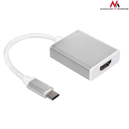 Picture of Adapter for cables Maclean MCTV-841 (Micro USB type C M - HDMI F; white and gray color)