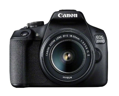 Attēls no Canon EOS 2000D BK 18-55 IS II EU26 SLR Camera Kit 24.1 MP CMOS 6000 x 4000 pixels Black