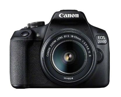 Picture of Canon EOS 2000D BK 18-55 IS II EU26 SLR Camera Kit 24.1 MP CMOS 6000 x 4000 pixels Black