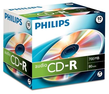 Attēls no 1x10 Philips CD-R 80Min Audio JC