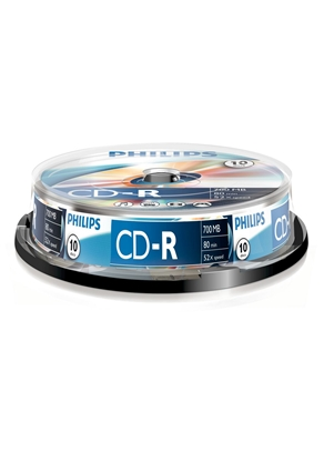 Picture of 1x10 Philips CD-R 80Min 700MB 52x SP