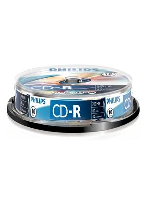 Attēls no 1x10 Philips CD-R 80Min 700MB 52x SP