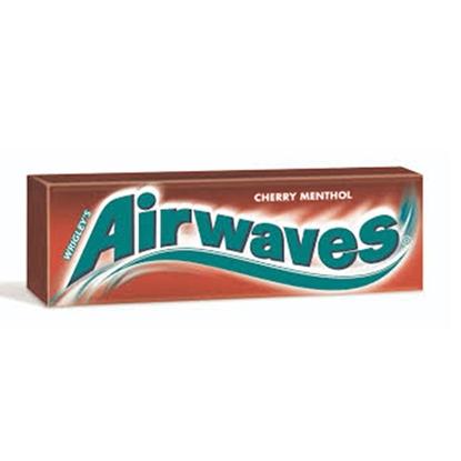 Attēls no Košļ.gumija AirWaves Cherry Menthol 10gab.