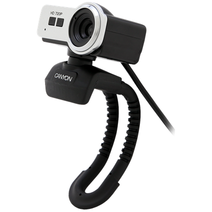 Attēls no CANYON   720P HD webcam with USB2.0. connector, 360° rotary view scope, 1.0Mega