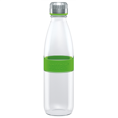 Attēls no Boddels DREE Drinking bottle, glass Bottle,  Apple green, Capacity 0.65 L, Bisphenol A (BPA) free