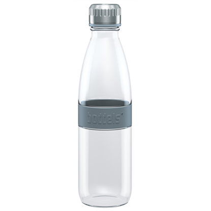 Attēls no Boddels DREE Drinking bottle, glass Bottle, Light grey, Capacity 0.65 L, Bisphenol A (BPA) free