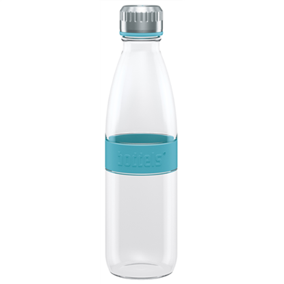 Attēls no Boddels DREE Drinking bottle, glass Bottle, Turquoise blue, Capacity 0.65 L, Bisphenol A (BPA) free