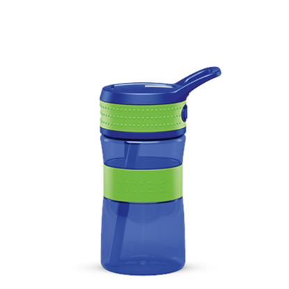 Attēls no Boddels EEN Drinking bottle Bottle,  Apple green/Blue, Capacity 0.4 L, Bisphenol A (BPA) free
