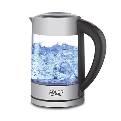 Изображение Adler AD 1247 NEW electric kettle 1.7 L Hazelnut,Stainless steel,Transparent 2200 W