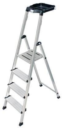 Изображение Ladder 4 step aluminium Krause Secury 126528