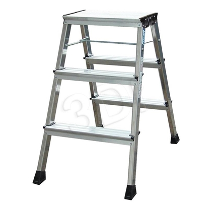 Attēls no Step ladder double-sided foldable Krause Rolly 130068
