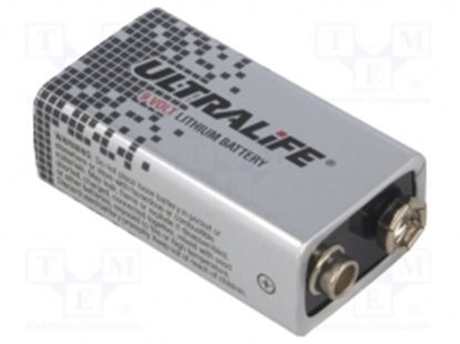 Picture of (BAT-6F22-UL U9VL-J-P  Ultralife Battery: lithium; 9V; 6F22; 1200mAh